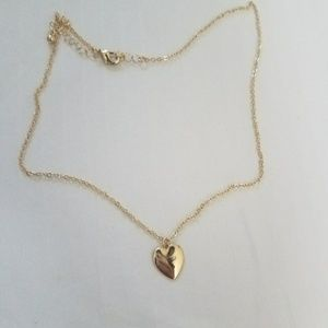 New gold plated heart necklace